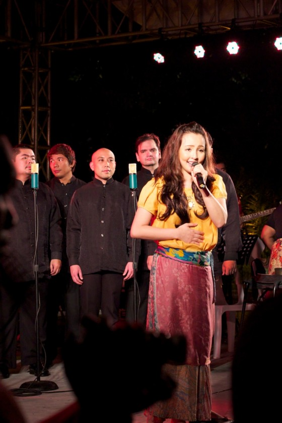 Cris Villonco performs with the UST Chamber Singers. Photo by Monique Villonco