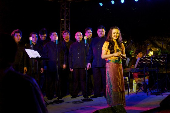 Cris Villonco performs with the UST Chamber Singers. Photo by Monique Villonco.