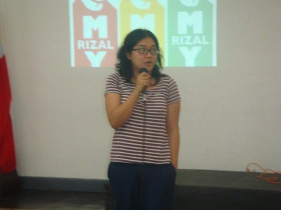 Facebook myRizal member Marie Ganal at Museo Pambata