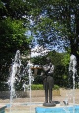 Jose Rizal statue in a park in Germany