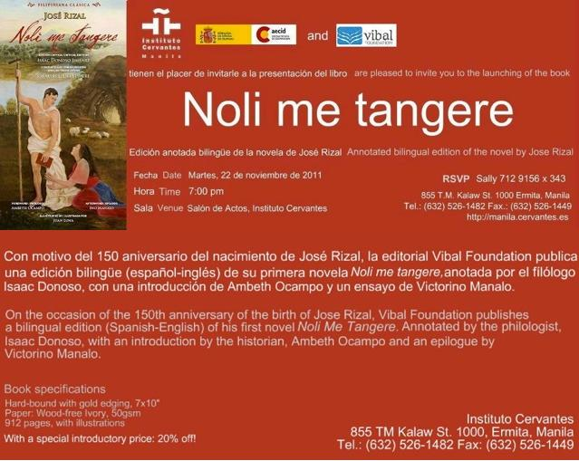 noli me tangere In more than a century since its appearance, josé rizal's noli me tangere has become widely known as the great novel of the philippines a passionate love story set.