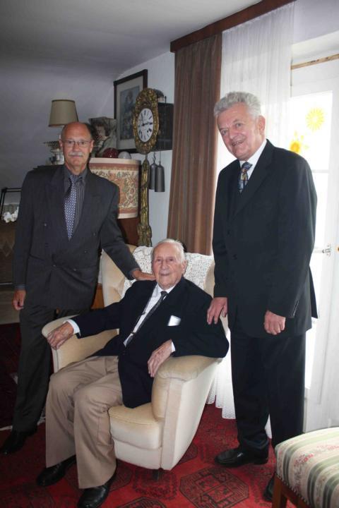 Lucien Spittael, Ernst Blumentritt, Dr. Fritz Hack-Ullmer. Photo courtesy of Lucien Spittael.