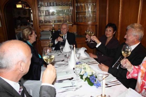 Mr. Klug, Mrs. Hack, Ernst Blumentritt, Mrs. Spittael, Dr. Hack (Not in photo: Mrs. Klug). Photo courtesy of Lucien Spittael.