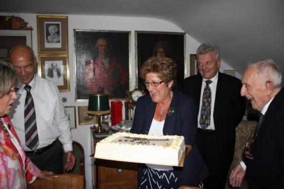 Mrs. Klug, Mr. Klug, a family friend, Dr. Hack, Ernst Blumentritt. Photo courtesy of Lucien Spittael.
