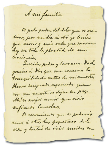 a letter to his parents by dr jose rizal essay And at the same time at the university of santo tomas faculty of philosophy and letters where he studied philosophy and letters upon learning that his mother was going blind without his parents' knowledge and consent a to z of dr jose rizal more questions.