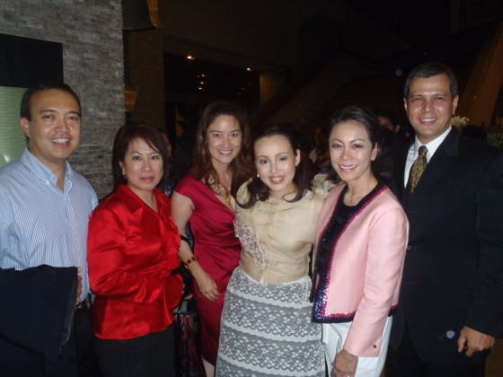 MyRizal Team with Cris Villongco. (L-R) Paul Zaldarriaga, Loi Ilustre, Maite Gallego, Cris Villonco, Lisa Bayot, Miko Liwanag. 5 August 2011 at the CCP's Little Theater